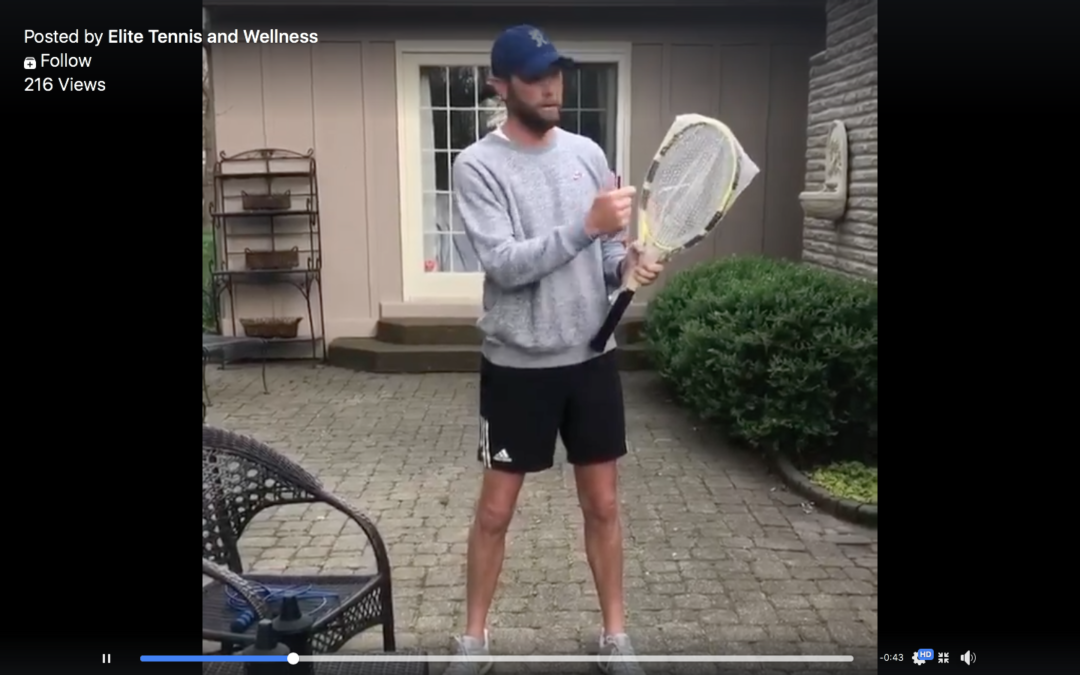 VIDEO: Coach Nick's at Home Tennis Tip